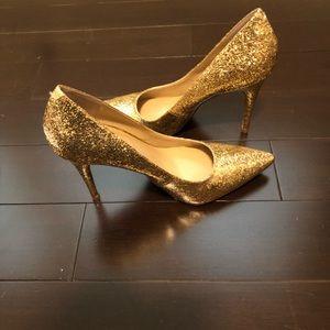 New BCBGeneration Gold Glitter Pumps size 9